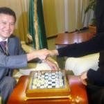 Ilyumzhinov and Qaddafi