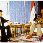 Ilyumzhinov and Saddam Hussein