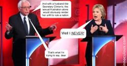 Bernie Hillary debate heats up.