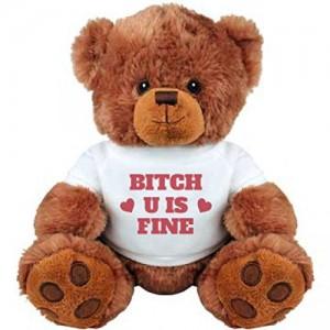 Bitch-U-Is-Fine-Girlfriend-Gifts-Medium-Plush-Teddy-Bear-0