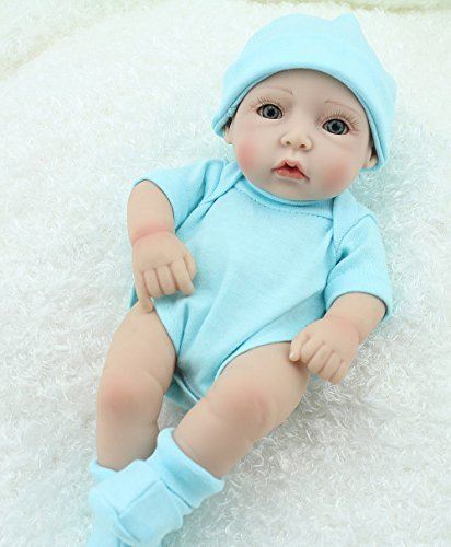 Cute-Little-Boy-Baby-Doll-10inch-Handmade-Full-Viny-Doll-With-Romper-0