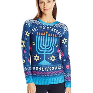 Faux-Real-Womens-Chai-Maintenance-Hanukkah-Sweater-Long-Sleeve-T-Shirt-Multi-XX-Large-0
