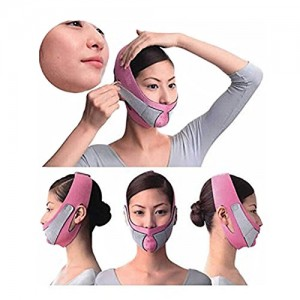 KOLIGHTAnti-Wrinkle-Half-Face-Slimming-Cheek-Mask-Lift-V-Face-Line-Slim-up-Belt-StrapPink-0