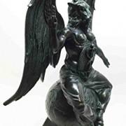 Large-15H-Church-of-Satan-Baphomet-Sabbatic-Goat-Idol-Satanic-Occultic-Statue-0-0