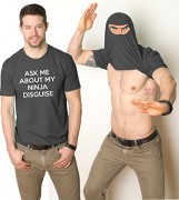 Turn-into-a-Ninja-Flip-T-Shirt-Cool-Fighter-Disguise-Funny-Shirts-0-0