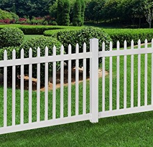 WamBam-No-Dig-Nantucket-Vinyl-Picket-Fence-with-Post-and-No-Dig-Steel-Pipe-Anchor-Kit-4-Height-by-6-Width-0
