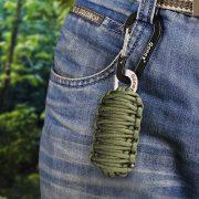 Gonex-550-Paracord-Survival-Bracelet-Grenade-Keychain-Emergency-Survival-Kit-with-Carabiner-Eye-Knife-Fire-Starter-Fishing-Tool-for-Camping-Hiking-Hunting-Travel-0-2