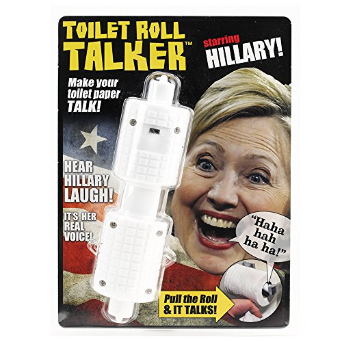 Hillary-Clinton-Toilet-Roll-Talker-Makes-Regular-Toilet-Paper-Laugh-with-Hillarys-REAL-VOICE-Hilarious-Gag-Gift-for-Hillary-Donald-Trump-Fans-Bathroom-Joke-Gift-Funny-Gift-for-any-Holiday-0